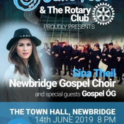 Downda Road Productions - Sina Theil and The Newbridge Gospel Choir join forces for Junefest in aid of the Rotary Club
